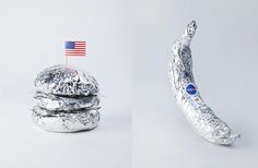 Space delivery... a cute idea for food with an astronaut or  space theme.