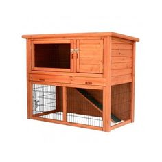 New Outdoor 2 Story Wooden Rabbit Bunny Hutch Pet Animal Cage House Ramp Run