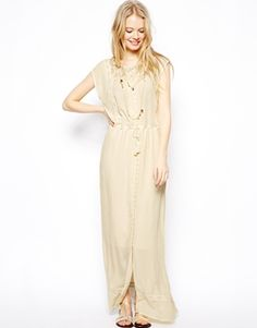 ASOS Maxi Dress With Lace Panels
