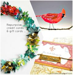 Re-purposing Plastic Cards – Candoodles · Indie Crafts | CraftGossip.com