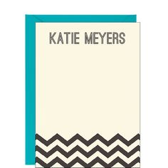 Personalized Stationery - we love this chevron stationery and many more options for her her home office or business stationery.