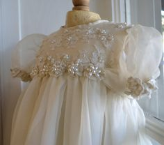 Christening Gown Baptism Gown Ivory Girls 36 by CouturesbyLaura, $569.00