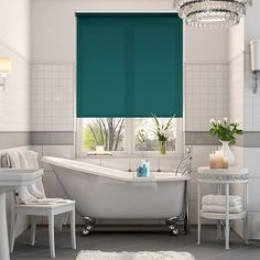 Teal Roller Blinds; Vibrant Blue Roller Blinds 2go™