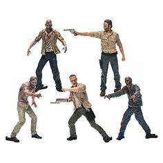 Walking Dead TV Series Toy - Construction Set - 5 Action Figure Pack - Rick Grimes