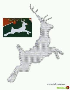 lots of ideas for crochet apliques - some charts & some inspiratons Crochet Applique Patterns Free, Christmas Crochet Patterns, Holiday Crochet, Crochet Diagram, Crochet Chart, Crochet Motif, Crochet Stitches, Crochet Appliques, Crochet Deer