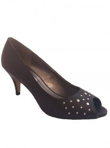 9254235101ff Shush Shoes - Gina in Black with Rivets - shush.co Your Shoes