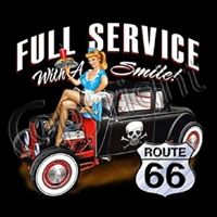 Main Street Of America Route 66 Hot Rod Graphic T-shirts Tee