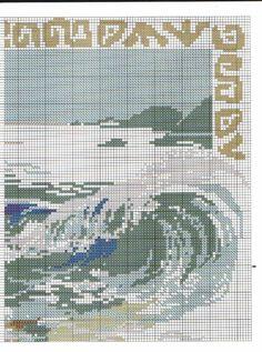 Sea & Starfish, Part 3 Cross Stitch Sea, Cross Stitch Boards, Cross Stitch Flowers, Diy Embroidery, Cross Stitch Embroidery, Cross Stitch Patterns, Cross Stitch Landscape, Sewing Stitches, Embroidery Techniques