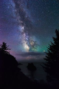 Oregon Coast Milky Way - Photo taken from the Arch Rock parking lot in Boardman state park via iphonephotog
