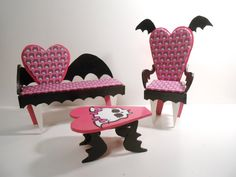 Monster High Furniture  Miniature 16 scale by MonsterMiniCustoms, $60.00