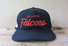 302cab100e5 Vintage 90s ATLANTA FALCONS Sports Specialties Script Snapback Hat Official  NFL The Pro Baseball Cap Football Licensed Embroidered Ballcap
