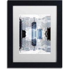 Trademark Fine Art New York Reflection V Canvas Art by Philippe Hugonnard, White Matte, Black Frame, Size: 11 x 14, Multicolor