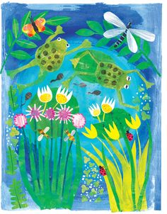Tracey English - UK based illustrator and surface pattern designer. Open to licensing projects and commissions for global clients. Paper Collage Art, Collage Drawing, Drawing For Kids, Art For Kids, Cut Paper Illustration, Pond Painting, Duck Art, Art Lessons Elementary, Summer Art
