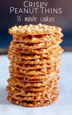 These peanut thins are one of the first biscuits I learnt to make. They are super thin, making them wonderfully crispy and so unlike a normal peanut cookie. But they are melt in the mouth delicious. Peanut Cookies, Crispy Cookies, Sprinkle Cookies, No Bake Cookies, Lace Cookies, Baking Cookies, Köstliche Desserts, Delicious Desserts, Dessert Recipes
