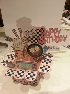 'Box Card' Chef's 21st birthday inspired by Docrafts