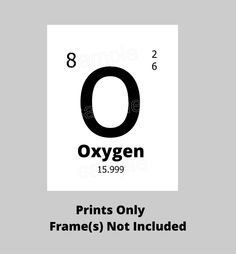 Canvas tile periodic table oxygen by madebyprawo on etsy just me oxygen elements periodic table oxygen science art print periodic table geek wall art chemist scientist poster nerd art chemical poster print urtaz Images