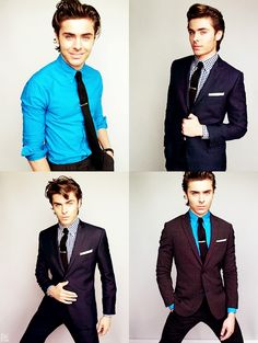 I dig the blue shirt with the dark suit!
