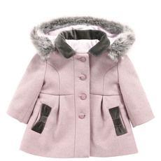 Tartine et Chocolat - Light pink woollen cloth coat