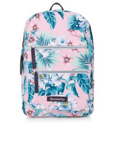 Tropical Floral Dome Backpack   Pink   Accessorize