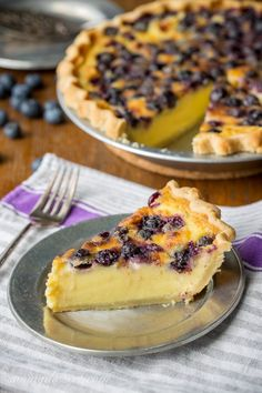 Blueberry Buttermilk Pie - with an amazing flavor that puts this on top of the…