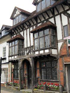 George House, Henley In Arden, Warwickshire British house bay windows.