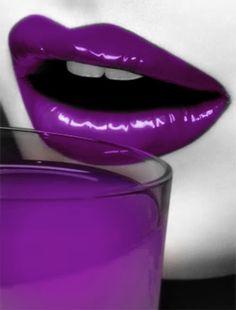 Funky lips photo purple lips and drink Lipstick Art, Purple Lipstick, Lip Art, Ombre Lip, Lipsticks, Purple Love, All Things Purple, Shades Of Purple, Deep Purple