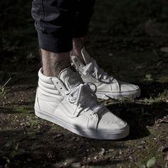 Vans Sk8-Hi Premium Leather: True White