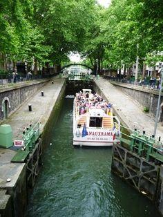 Canal St. Martin in 10th Arrondisement in Paris France, Paris, Holiday, Montmartre Paris, Vacations, Paris France, Holidays, Vacation, Annual Leave