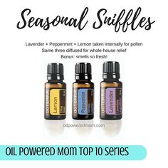Another amazing trio from the top 10 oils EVERY home should have! This is so powerful for when those flowers, grasses, and trees start to bloom. I love to diffuse equal drops (so fresh and clean!) to clear the air and my sinuses. It's also incredibly effective taken internally (when bought directly from doTERRA ONLY) - 2 drops each in a gel cap as needed. These save me every spring and summer. Tag a friend who would love to know how to use the top 10!