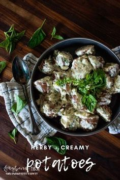 These herby creamed potatoes are the perfect pairing for any dish. Packed with flavor and easy to fix, they are a total crowd pleaser!