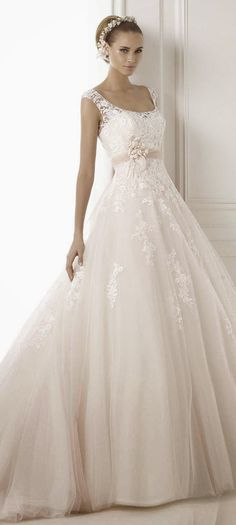 Equal parts girly and fabulous ~ Pronovias 2015 Bridal Collection | bellethemagazine.com