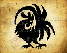 Rooster Chickens Clipart Illustration Instant by BackLaneArtist