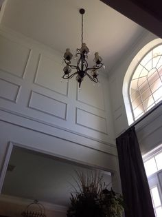 Nice picture frame moulding in two story foyer!