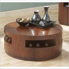 Buy Steve Silver Co. Orbit Round Cocktail Table w Casters at ShopLadder - Great Deals on Coffee Tables with a superb selection to choose from! Coffee Table With Casters, Rustic Coffee Tables, Cool Coffee Tables, Coffee Table With Storage, Round Coffee Table, Steve Silver Furniture, City Apartment Decor, Safari, Coffee Table Accessories