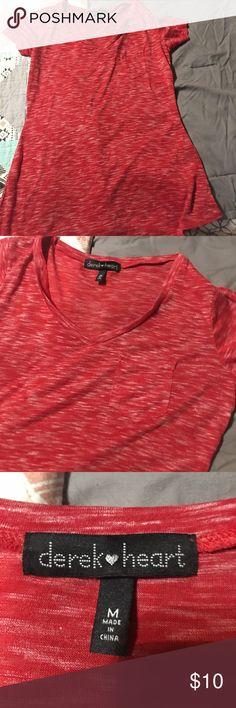 Derek heart t shirt size medium Derek heart t-shirt size medium never worn no flaws has a front pocket Derek Heart Tops Tees - Short Sleeve