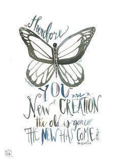 Doodle Through The Bible: 2 Corinthians 5:17 Free coloring