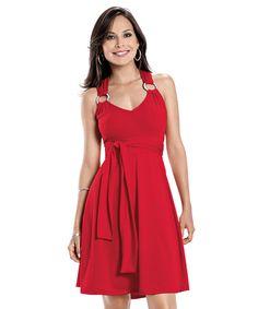 Vestido Vermelho com Argola! http://www.desfilar.com.br/