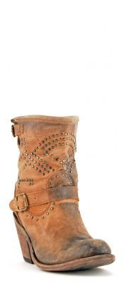 Womens Liberty Black Distressed Boots Tan #Lb-71246tan via @allen sutton Boots