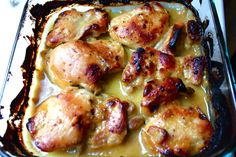 Maple Dijon Chicken. One of our faves for a while now and super quick and easy. We always use boneless skinless breasts instead of thighs, and it's also good with or without the rosemary (if you don't have any on hand).