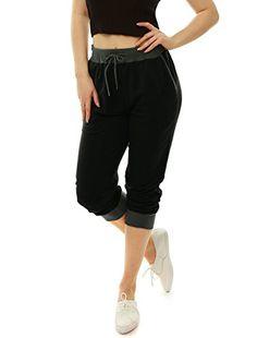 Allegra-K-Women-Drawstring-Elastic-Band-Contrast-Color-Jogger-Pants