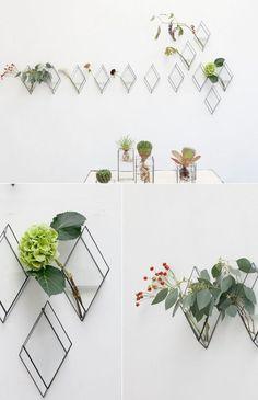 hanging diamond vases / 1012 Terra