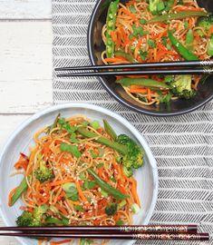 Asiatischer Nudelsalat mit Sesam