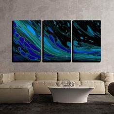 3 Panel Unframed Modern Oil Painting Fruit Wall Art Picture Canvas Home Decor N1