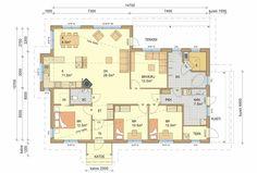 Unelmiesi koti valmiista talomallistostamme tai yksilöllisesti toteutettuna omista suunnitelmistasi. Bungalow, House Plans, Floor Plans, Layout, How To Plan, Interior, Inspiration, Case, Home Decor