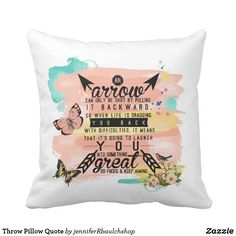 Throw Pillow Quote
