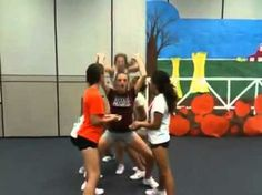 gamble cheerleading leap frog stunt