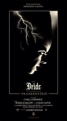 The Bride of Frankenstein poster by Olly Moss for Mondo.