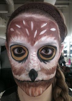 stage make up animal on pinterest owl makeup animal