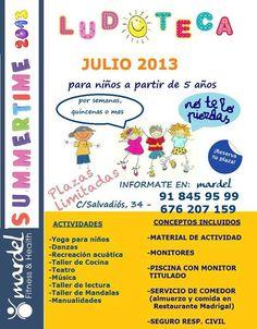 De 9 a 15:30 de lunes a viernes durante todo el mes de julio en Colmenar Viejo