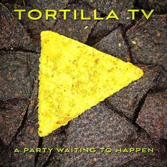 #logo study for a fictional TV station. #tortilla TV is a #parody using #humor #design #typography #design #food #cornchips #salsa #bluecorn and more! #risingabovethenoise #sent via @latergramme